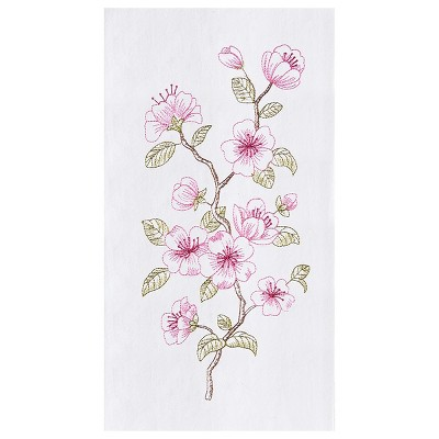 C&F Home Cherry Blossom Flour Sack Embroidered Cotton Kitchen Towel