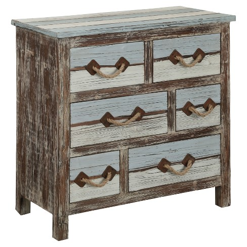 Nautical Six Drawer Chest Multicolored Christopher Knight Home