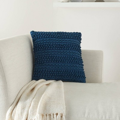"18""x18"" Life Styles Woven Striped Square Throw Pillow - Mina Victory"