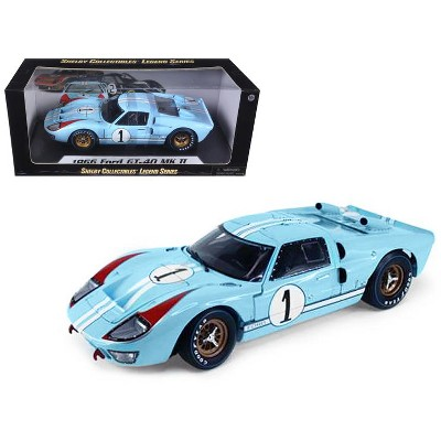 1966 Ford GT 40 MK II RHD (Right Hand Drive) #1 Light Blue Miles - Hulme Le Mans 1/18 Diecast Model Car by Shelby Collectibles