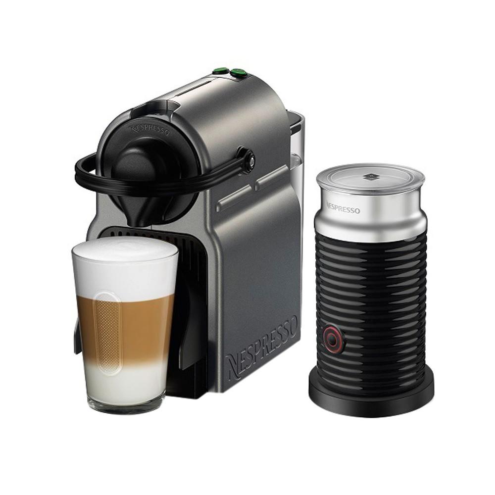 Image of Nespresso Inissia Titan Bundle by Breville, Dark Silvertone