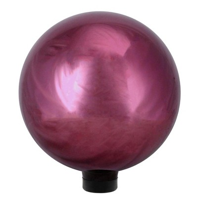 "Northlight 10"" Mirrored Burgundy Outdoor Patio Garden Gazing Ball"