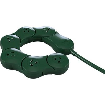 Quirky Pivot Power Surge Protector Dark Green