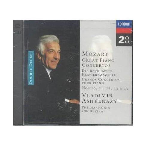 Wolfgang A.  Vladimir; Foreigner; Mozart Ashkenazy - Mozart:Piano Ctos 20,21,23 (CD) - image 1 of 1