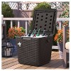 Outdoor Cooler Cube - Brown - Suncast - image 3 of 4