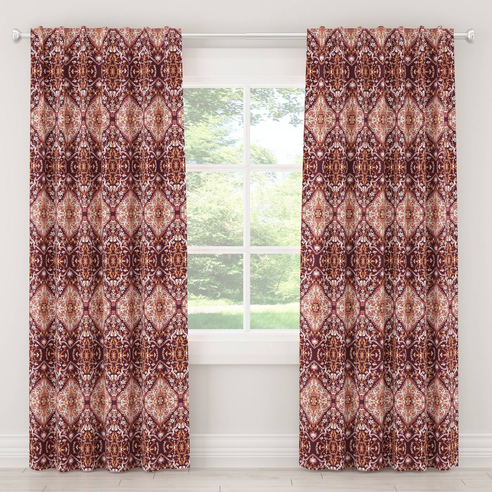 "Image of ""108"""" In Tabriz Blackout Curtain Plum - Cloth & Co., Size: 108"""""""
