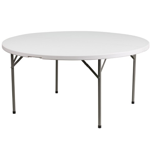 Riverstone Furniture Collection Plastic Fold Table Granite White - image 1 of 3
