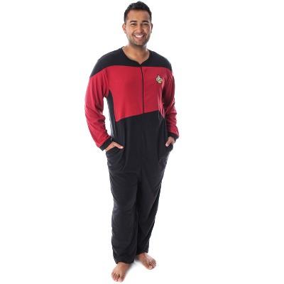Star Trek Next Generation Men's Picard One Piece Costume Pajama Union Suit