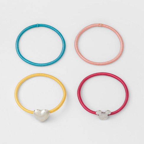Girls' Disney Mickey Mouse Rainbow 4pk Bracelets - image 1 of 1