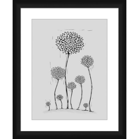 Growing Flowers Framed and Matted Print - PTM Images - image 1 of 2