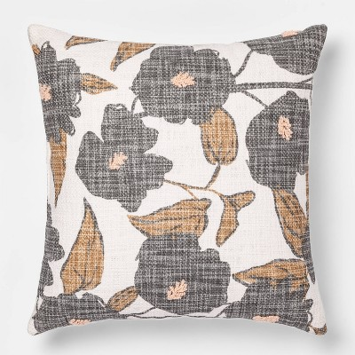 Floral Square Throw Pillow - Room Essentials™