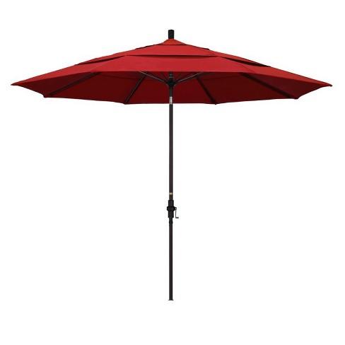 11' Patio Umbrella in Red - California Umbrella - image 1 of 2