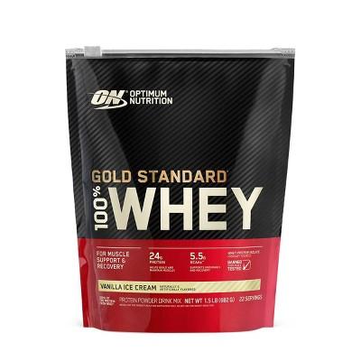 ON 100% Gold Standard Whey - Vanilla Ice Cream - 24oz
