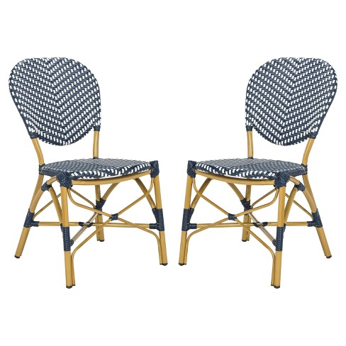 Lisbeth 2pk All-Weather Wicker Patio Stackable Side Chair - Safavieh - image 1 of 4