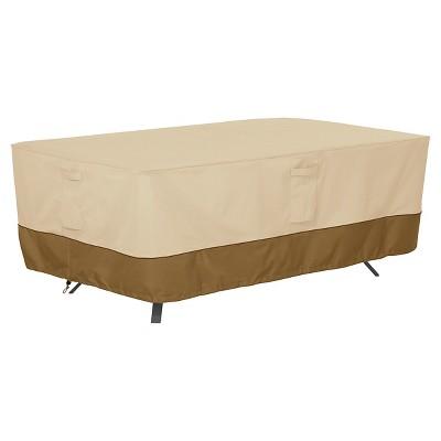 Veranda Rectangular/Oval Patio Table Cover X-Large - Light Pebble - Classic Accessories