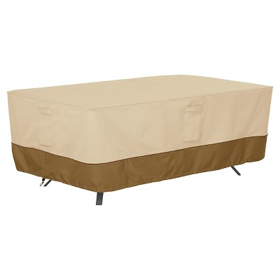 Veranda Rectangular/Oval Patio Table Cover X Large   Light Pebble   Classic  Accessories