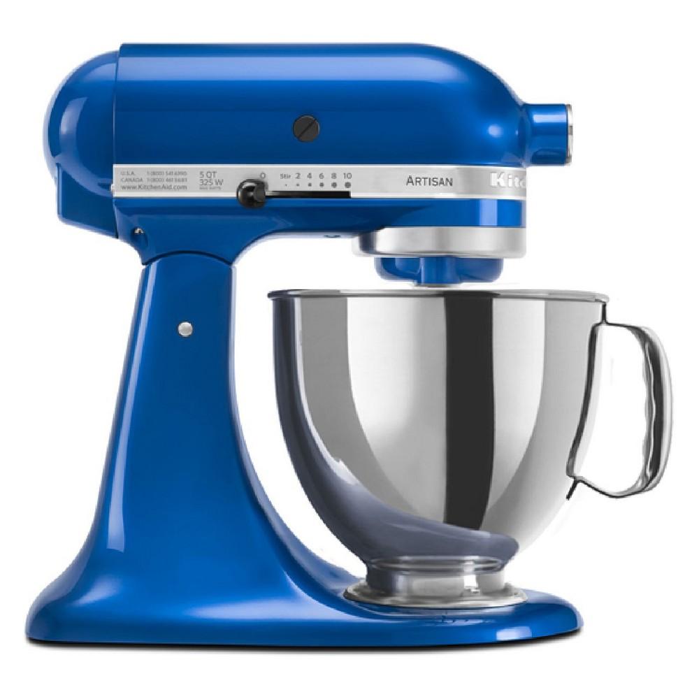KitchenAid Refurbished 5qt Artisan Stand Mixer Blue - RRK150EB, Electric Blue