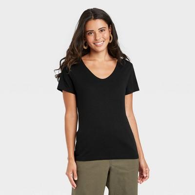 Women's Short Sleeve V-Neck Voop T-Shirt - A New Day™