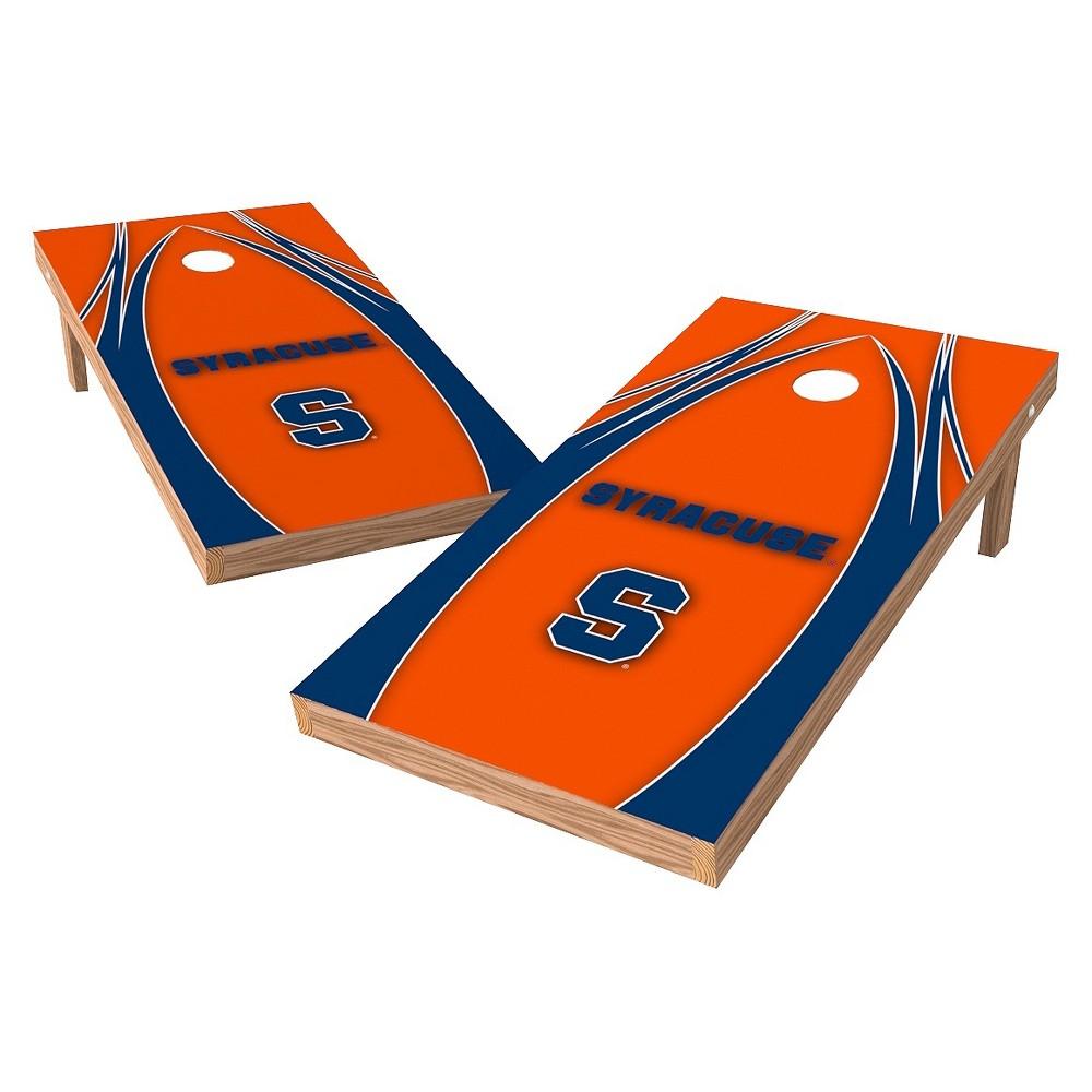 Syracuse Orange Wild Sports 2' x 4' V Logo Design Authentic Cornhole Set