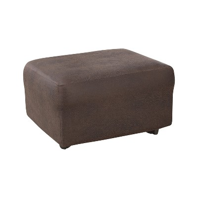 Ultimate Stretch Leather Ottoman Slipcover - Sure Fit