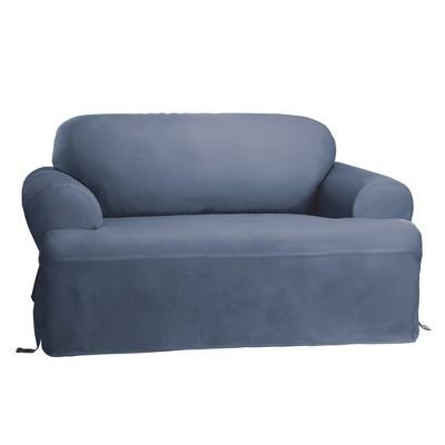 Cotton Duck T-Sofa Slipcover - Sure Fit