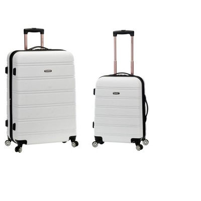 Rockland Expandable 2pc Spinner Luggage Set - White