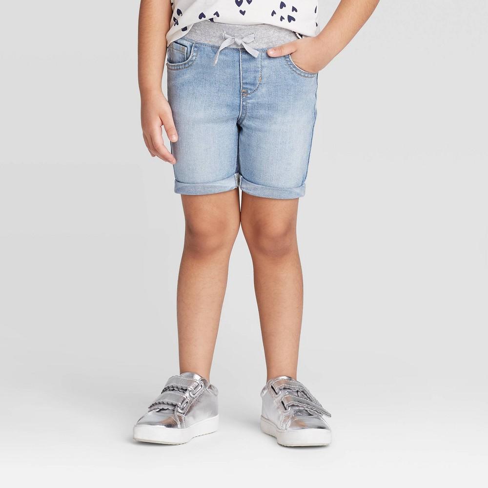 Toddler Girls 39 Pull On Bermuda Jean Shorts Cat 38 Jack 8482 Light Wash 12m