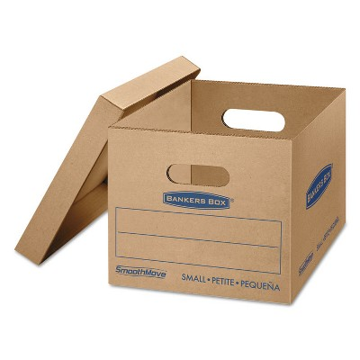 Bankers Box SmoothMove Classic Small Moving Boxes 15l x 12w x 10h Kraft/Blue 10/Carton 7714203