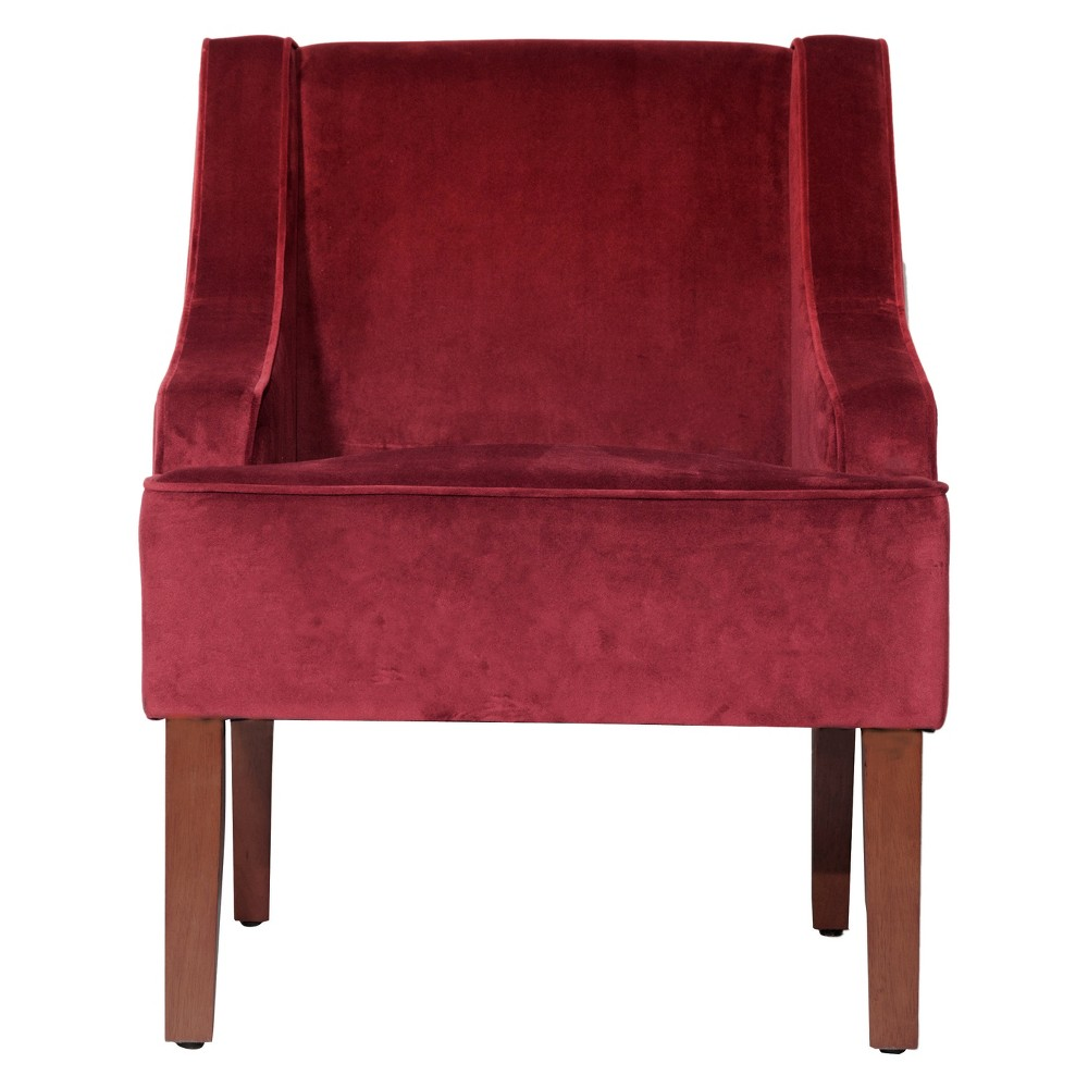 Velvet Swoop Arm Chair - Berry was $229.99 now $172.49 (25.0% off)