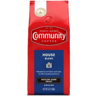 Community Coffee House Blend Medium Dark Roast Ground Coffee - 12oz