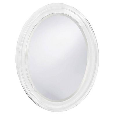Oval George Decorative Wall Mirror White - Howard Elliott