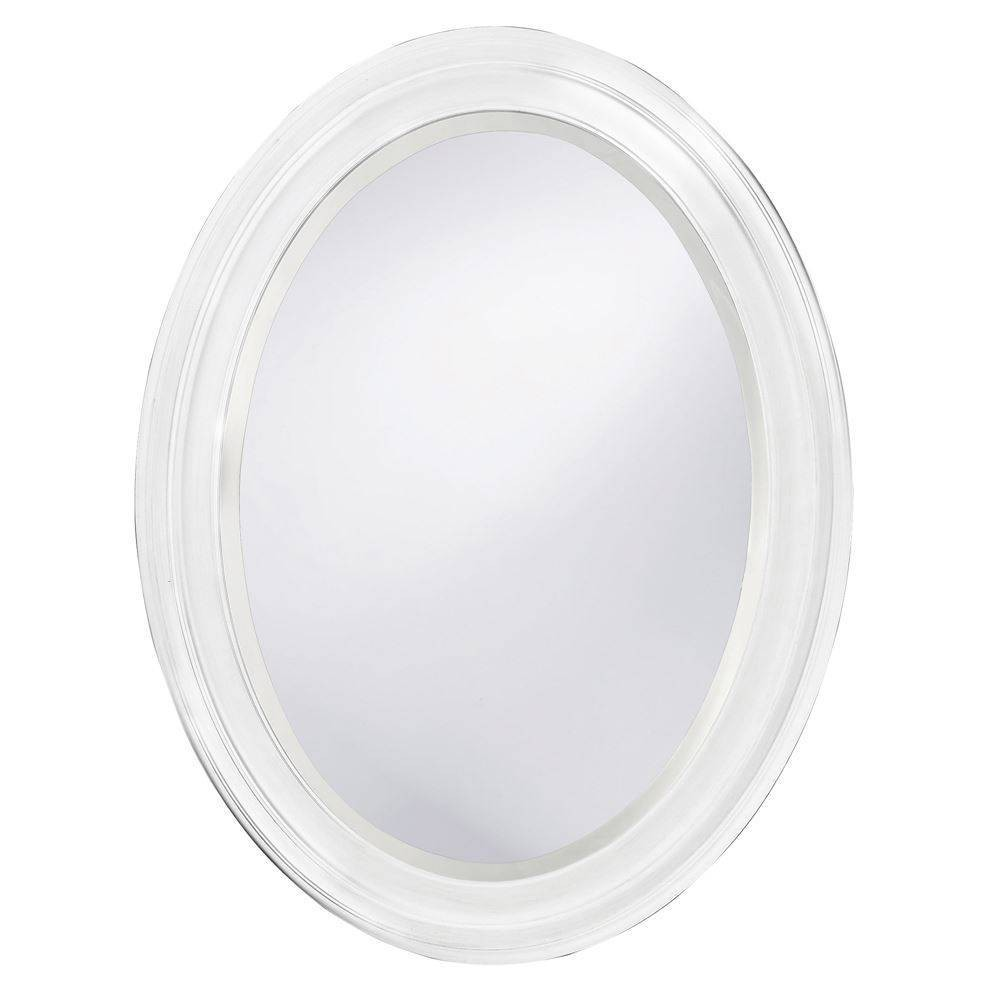 Image of Oval George Decorative Wall Mirror White - Howard Elliott