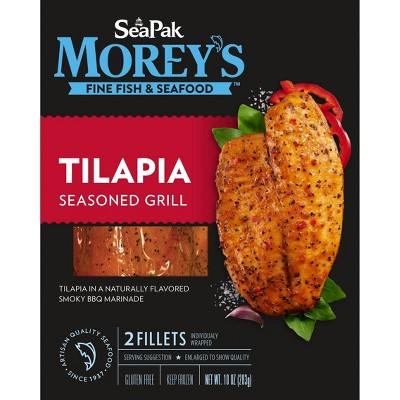 Sea Pak Morey's Tilapia Seasoned Grill - Frozen - 10oz