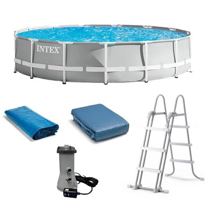 Intex 26723EH 15ft x 42in Prism Frame Above Ground Swimming Pool Set with Easy Set Up and Filter