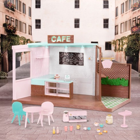 Lori Dolls Local Café & Terrace - Café Playset for 6-in Dolls - image 1 of 5