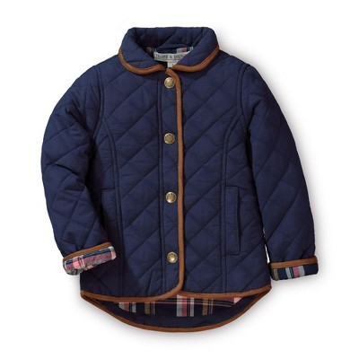 Hope & Henry Girls' Quilted Riding Coat, Toddler
