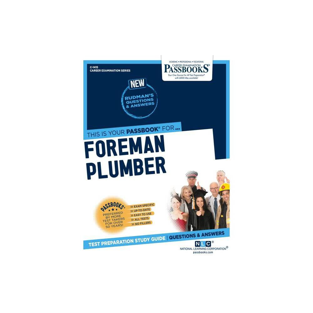 Foreman Plumber Volume 1415 Career Examination By National Learning Corporation Paperback