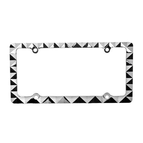 Pilot Automotive Diamond License Plate Frame Black - image 1 of 4