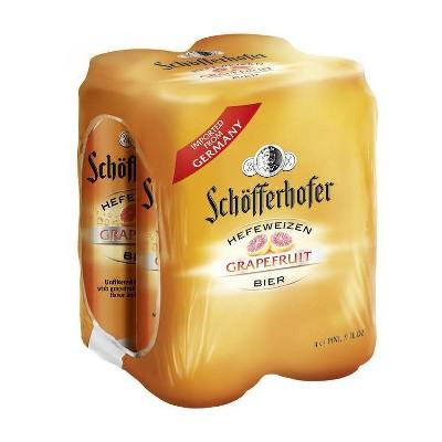 Schofferhofer Grapefruit Hefeweizen Beer - 4pk/16.9 fl oz Cans