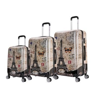 InUSA Lightweight Hardside Spinner 3pc Luggage Set - Paris