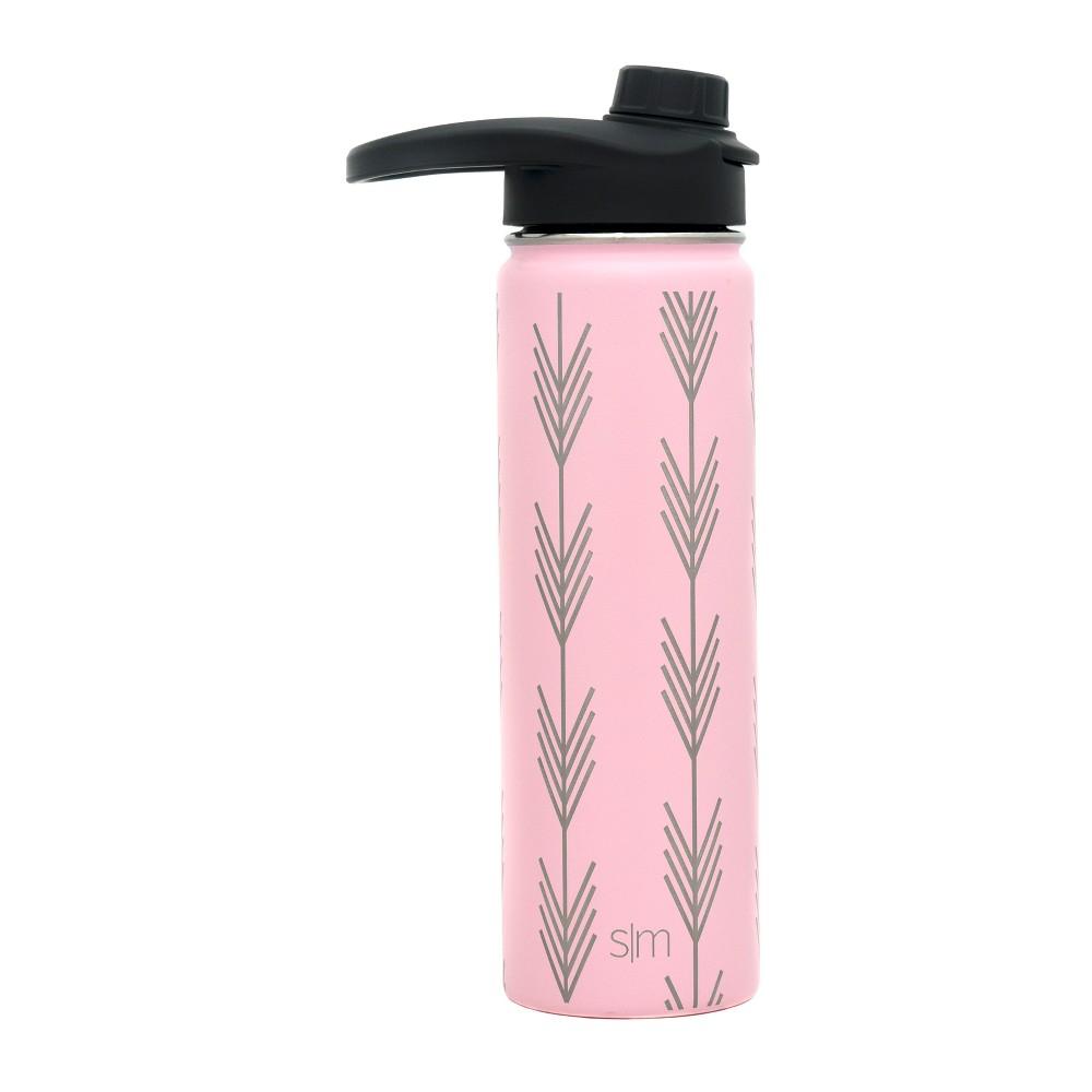 Image of Simple Modern 22oz Summit Stainless Steel Water Bottle Blush Arrows