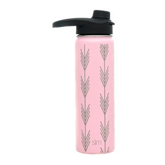 Simple Modern 22oz Summit Stainless Steel Water Bottle Blush Arrows