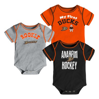 NHL Anaheim Ducks Boys' Game Winner 3pk Body Suit Set 0-3M