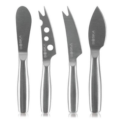 Boska 4pc Set of Stainless Steel Mini Cheese Knives
