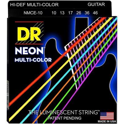 DR Strings Hi-Def NEON Multi-Color Coated Medium Electric Guitar Strings