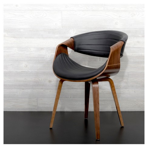 Peachy Symphony Mid Century Modern Dining Accent Chair Black Lumisource Lamtechconsult Wood Chair Design Ideas Lamtechconsultcom