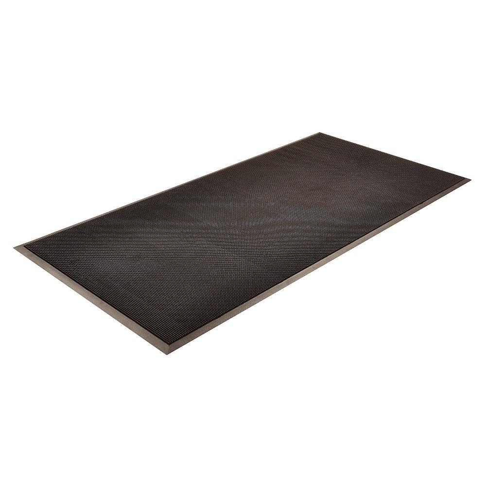 HomeTrax Rubber Brush Doormat - Black (36