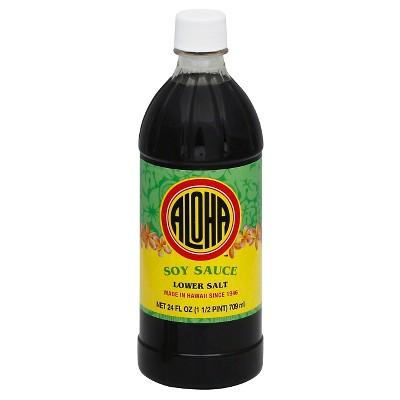 Aloha Shoyu Low Sodium Soy Sauce - 24 fl oz