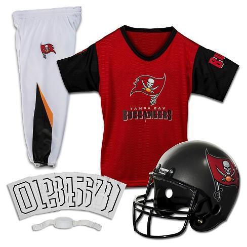 d1e065dc4 Tampa Bay Buccaneers Franklin Sports Deluxe Helmet Uniform Set   Target