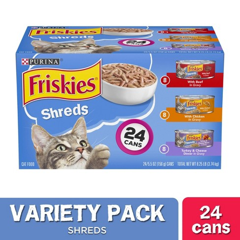 Purina Friskies - Shreds - Wet Cat Food - Variety Pack - 5.5oz cans - image 1 of 4